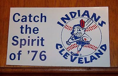 sticker / decal  Cleveland Indians  logo catch the sprit of ' 76
