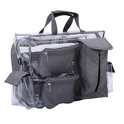 MUA LIMITED Easy Access Cosmetic Carry All Bag Clear Makeup Artist Organiser ...