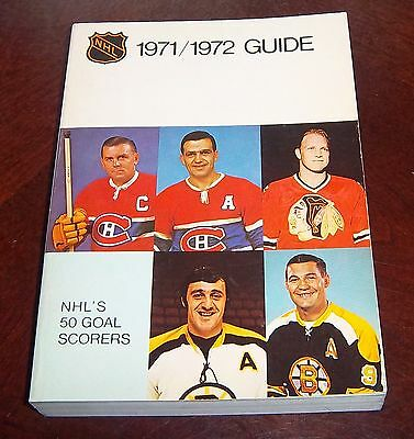 Official NHL  Guide 1971-72 Maurice Richard ,Bobby Hull,Boom Boom Geoffrion