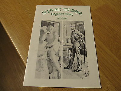 SUPERB Regent's Park Open Air Theatre Programme 1979 Shakespeare Bernard Shaw