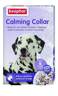 Beaphar Calming Dog Collar for Anxiety Fireworks Travel & Stress Relief 65cm
