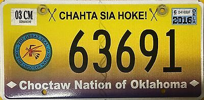 Oklahoma *Choctaw Nation* License Plate - Comanche County (63691)