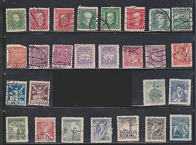 (U5-13) 1929-30 Czechoslovakia mix of 81 stamps 10h to 3K (A)