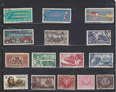 (U5-17) 1920-60 Poland mix of 65 stamps values to 100,000M (C)