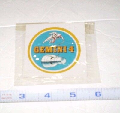 "Kelloggs Cereal NASA ""GEMINI 4"" MISSION STICKER PATCH 1965 ASTRONAUT SPACE WALK!"