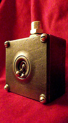 """Vintage Industrial Light Switch """"Walsall"""" 1 One Gang Cast Iron Toggle DISCOUNT!!"""