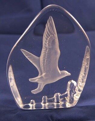 Wedgwood Glass Seagull Paperweight