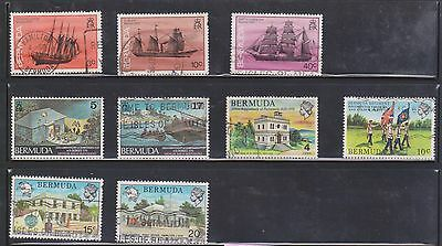 (U7-2) 1960-80 Bermuda mix of 30 stamps 3d to 2/- and 3c to 24c (A)