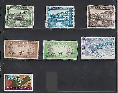 (U10-21) 1970s Guatemala mix of 7 stamps value to 30c (K)