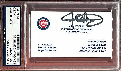 Jed Hoyer Chicago Cubs GM 2016 WS Signed Business Card PSA DNA Autograph Auto
