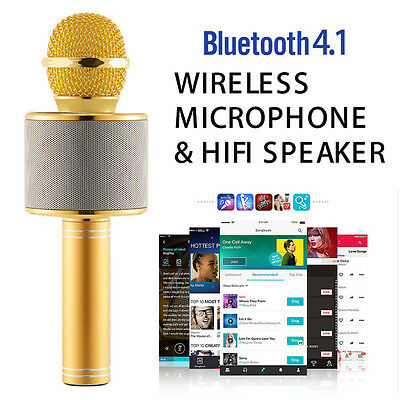 WS-858 Wireless Karaoke Handheld Microphone USB KTV Bluetooth Speaker Easytake