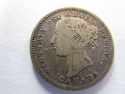 Canadian 10 Cent Coin /1900 / Queen Victoria /g To Vg/ Item# Qv1900