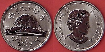 Specimen 2017 Canada 5 Cents From Mint's Set