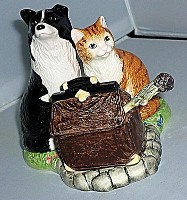 Boarder Fine Art Country Kitchen James Herriot Cat Dog Salt Pepper Pot Cruet Set