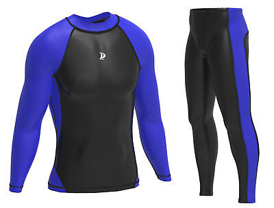 Mens Compression  Base layer Top & Pants  Running  Skin Fit Gym Fitness Shirts