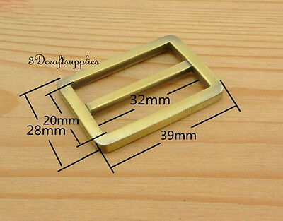 strap adjuster rectangle sliders alloy anti brass 32 mm 1 1/4 inch 10pcs U8
