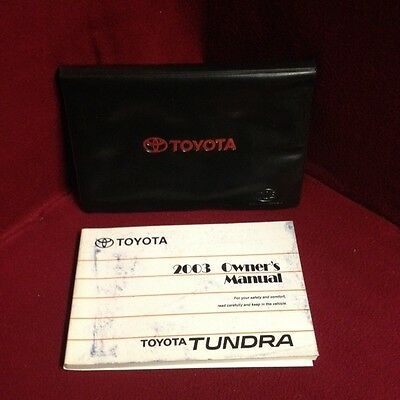 2003 Toyota Tundra OEM Owners Manual set with case