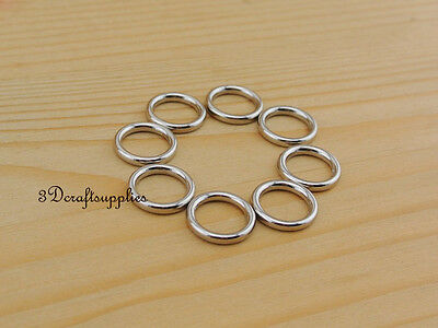 metal O rings O-ring purse ring connector nickel alloy 10 mm 3/8 inch 25pcs K128