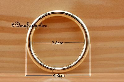 metal O rings O-ring purse ring connector golden 38 mm 1 1/2 inch 10 pcs U178