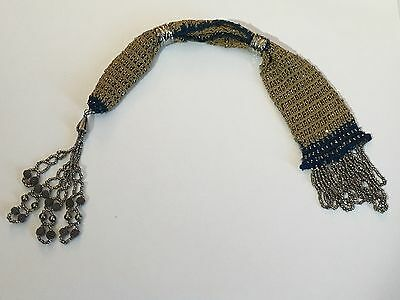 19th Century Women's Beaded Coin Purse Misers Pouch