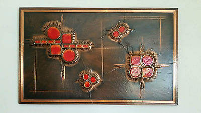 Vintage Retro Copper Abstract Wall Art