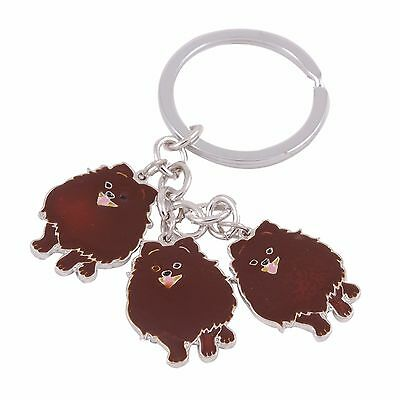 Pomeranian Enamel Dog Breed Keychain Keyring Clip Charms by Pashal Puppies
