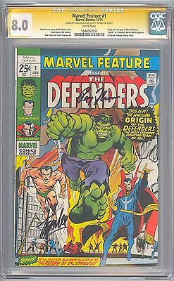 Marvel Feature # 1 CGC 8.0 SS 1st Defenders STAN LEE, ROY THOMAS Sigs 1044052011