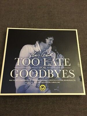 FREE WORLDWIDE SHIPPING! Elvis Presley Too Late For Goodbyes 2-CD Set