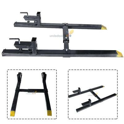 Pro 4500lb Clamp on Heavy Duty Pallet Forks adjustable Stabilizer Bar for loader