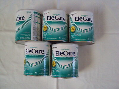 5 Cans of Elecare Infant Powder Formula
