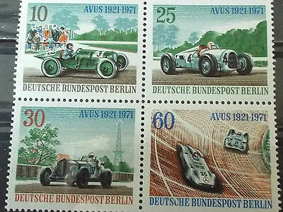 Bloc 4 timbres neuf All. BERLIN 1971 : Courses automobiles