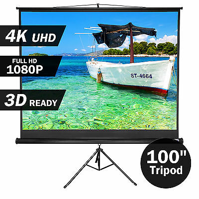 """100"""" Inch Portable Tripod Projector Screen Conference Presentation HD Projection"""