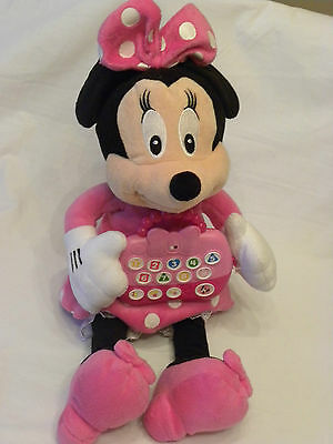 Disney Minnie Mouse Pink Interactive Talking Soft Toy Handbag Shapes 123 Colours