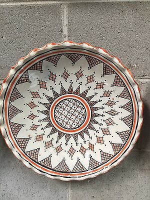 Moroccan Ceramic Hand Made Decorative Or Serving Plate