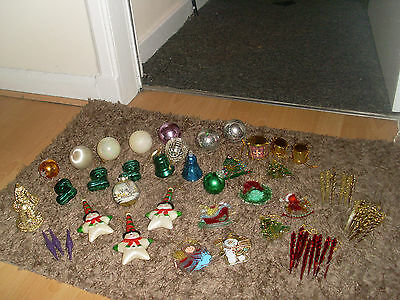 Job Lot of Christmas Tree Decorations Baubles  ( over 50 )