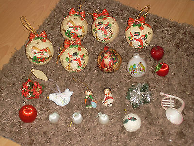 Job Lot of Vintage Christmas Tree Decorations Baubles