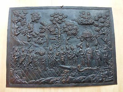 Tibetan Plaque age unknown - scene from Buddha's Life