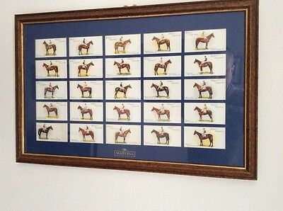 25 Grand National Winners Players  Cards - Mounted & Framed - 1907-1932