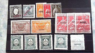 Early  Portugal  Acores Stamps..misc Selection.. Mint/not Hinged...