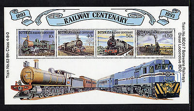 BOTSWANA - 1993, Railway Centenary, Mini-Sheet, MNH