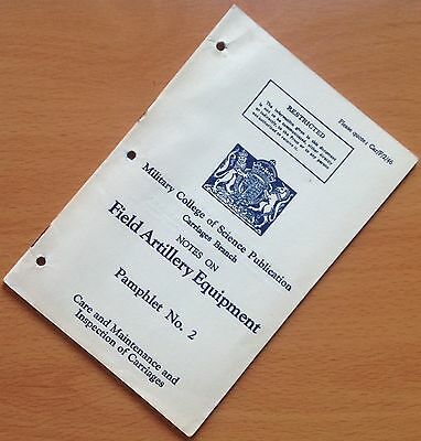 Original British Military College Of Science Manual: Field Artillery Pamphlet 2