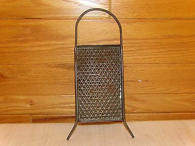 "VTG Antique Metal 10"" GRATER CHEESE NUTMEG spice PRIMITIVE KITCHEN COLLECTIBLE"