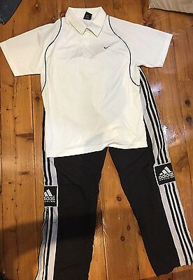Men's Nike Top Shirt Sport Dry Fit Adidas Pants Bundle