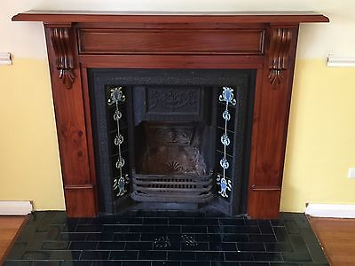 Victorian style fireplace with mantle