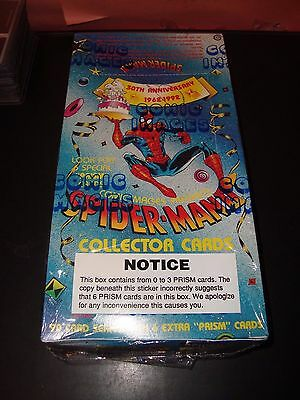 Spider-Man 2 30TH Anniversary 1992 Comic Images Trading Card Box 48 Packs