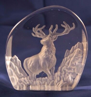 Wedgwood Glass Stag Deer Paperweight