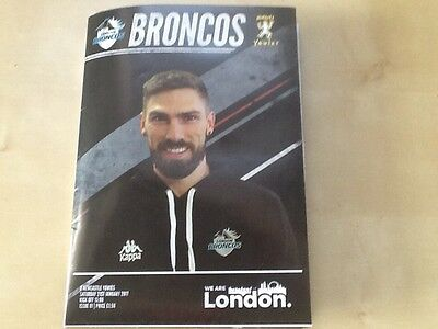 LONDON BRONCOS v NEWCASTLE YOWIES RUGBY LEAGUE PROGRAMME 21.01.2017