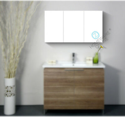 1200x720x150mm Pencil Edge Shaving Cabinet Medicine Bathroom Mirror Vanity White