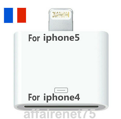 ADAPTATEUR CHARGEUR 30 PIN VERS 8 PIN iPHONE 4 VERS iPHONE 5 / 6 / 7