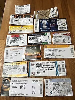 Liverpool FC Ticket Stub Collection 2015/2016